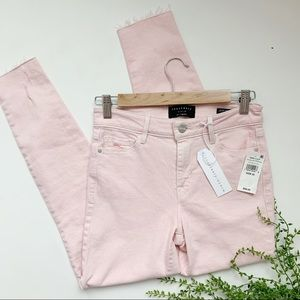 Sanctuary Social Ankle Skinny Mid Rise Pink Jeans